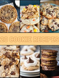 20 Tried and True Cookie Recipes That Will Make You Famous #Cookie #Cookiesrecipes #Chocolatechipcookies #Reeses #Oatmealcookies Oatmeal Cookies, Chocolate Chip Cookies, Treat Yourself, Make It Yourself, Best Selling Cookbooks, Blondies, Cookie Recipes, Stuffed Mushrooms, Treats