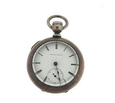 National Watch Co. Coin Silver Key Wind Pocket Watch