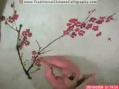 Plum Blossom Chinese Painting Tutorial (4 of 5) - YouTube