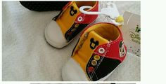 Infants size 2 (6-9m) black red and yellow Mickey Mouse soft crib shoe Brand new in Clothing, Shoes & Accessories, Baby & Toddler Clothing, Baby Shoes | eBay