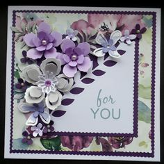 S034 - Hand Made Birthday Card using Stampin Up Botanical Blooms dies