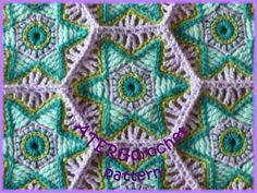 Crochet pattern hexagon 'falling star' by by ATERGcrochet on Etsy, €2.50
