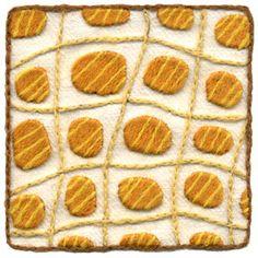 Wool & Hoop Crewel Embroidery - honey drops
