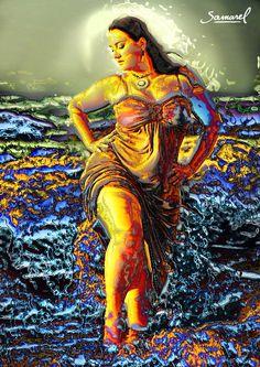 Beautiful curvy woman. Sensual portrait by Samarel