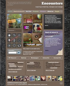 Encounters Arts Homepage November 2012. Design by Breadcrumb.