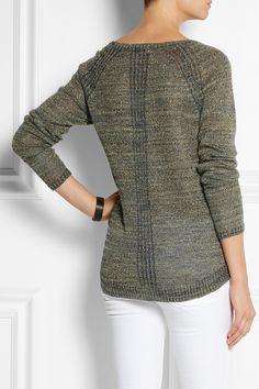 DAY Birger et Mikkelsen Metallic knitted sweater NET-A-PORTER.COM