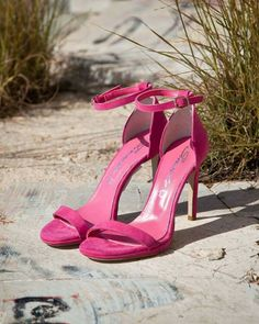 Sante Sandals (Spring-Summer 2015) Sante suede look sandals. Heel 11 cm. Colour fuchsia.  $112