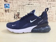 Buy 2018 Nike Air Max 270 Running Shoes Flyknit Dark Blue White 2018 Latest  Styles AH8050 94ff62959
