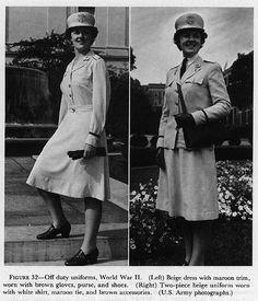 ANC summer off duty uniforms with the matching visor hat, World War II ~