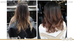 Balayage color.