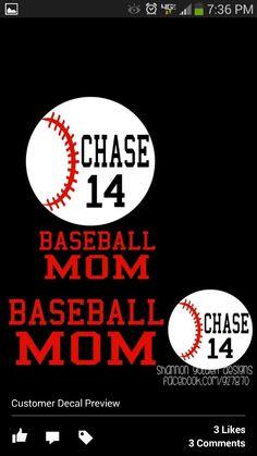 Baseball Mom Decals