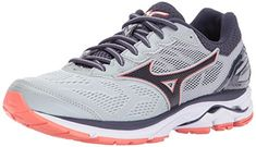best loved e4664 b2912 Mizuno Women s Wave Rider 21 Running Shoe Athletic Shoe, high rise gray  stone, 7 B US