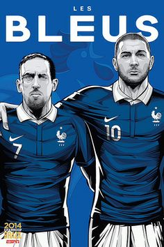 France, Les Bleus, Franck Ribéry & Karim Benzema, Fifa WorldCup Brazil 2014