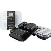 Mahlzeit Prep Behälter 3 Fächer 10 Stück Spülmaschine Mikrowelle Gefrierschrank