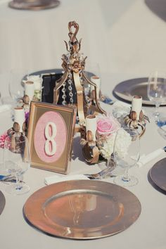 Real Wedding: Real Wedding: Gorgeous table with DIY centerpieces created by the bride and groom. via http://taylormadesoirees.blogspot.com/