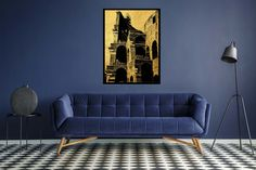 shop: Vintage architecture poster, Printable Wall Art, living room decor, Modern house wall art Excited to share the latest addition to my Vintage Architecture, City Architecture, Travel Room Decor, Gold Wall Art, Home Remodeling Diy, House Wall, Office Wall Art, Printable Wall Art, Living Room Decor