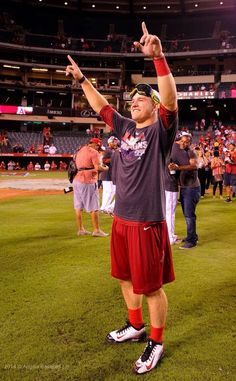mike trout earned the celebration #MT27#Angels#DivisionChamps