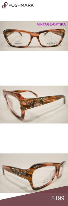 d880d0a814ab CAVIAR 6171 EYEGLASSES RED TORTOISE CRYSTAL STONES These are 100% Genuine