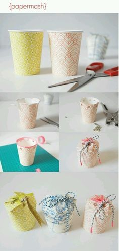 Making paper cups using: Naver Blog