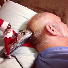 300+ Elf on the Shelf Photos  I always wanted to be a barber!