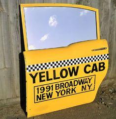 Vintage NYC Taxi Cab Door Mirror