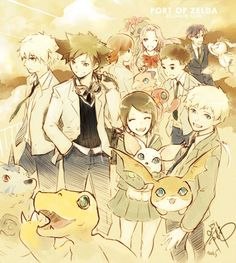 Digimon TRI team