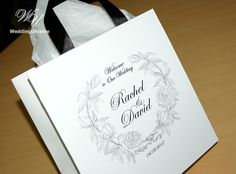 25 Elegant Wedding Welcome Bags with satin by WeddingUkraine