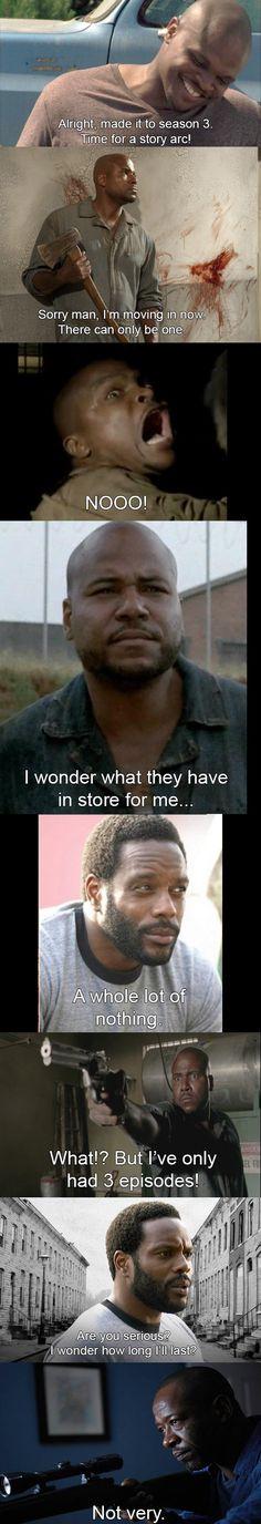 Poor, poor black dudes on The Walking Dead