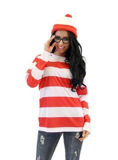 Whereu0027s Waldo DELUXE Adult Costume Set  sc 1 st  Pinterest & 31 Last-Minute Halloween Costumes For Women | Pinterest | Halloween ...