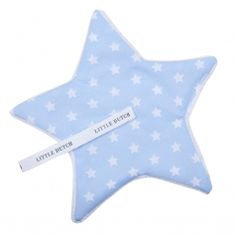 Baby Stern-Schnullertuch Sterne hellblau 15cm