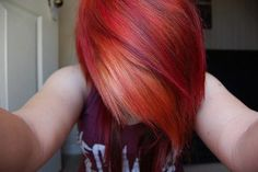 Red with purple and orange.♥