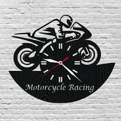 Wood clock motorcycle racing/Christmas gifts for motorcycle