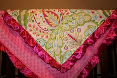 Deluxe Teja and Hot Pink Minky Blanket with by DesignsbyChristyS, $60.00