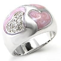 Dare to be bold attached to the clear Swarovski crystals the center a classic rhodium plated band is a heart-shaped filled with sparkling Swarovski crystals.