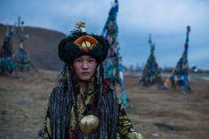 Ein mongolischer Schamane.