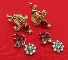 Add vintage allure and bling with a pair of vintage rhinestone clip on earrings.