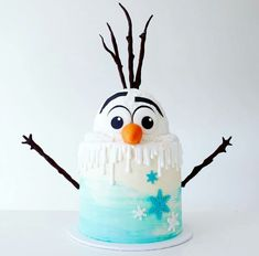 Olaf (Frozen movie) cake                                                       …
