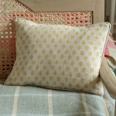 Nina Linen Cushion - Soft Olive