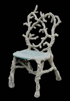 """Diane Husson is a master of creating """"faux bois"""" sculptural works of art that involves the adept layering of concrete over a steel armature. Concrete Sculpture, Concrete Forms, Concrete Cement, Concrete Furniture, Cool Furniture, Decorative Concrete, Concrete Projects, Concrete Design, Outdoor Furniture"""