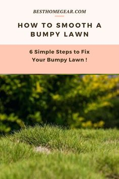 Are your Wondering How To Fix a Bumpy Lawn? See These 6 Easy DIY Steps Show Homeowner How to Smooth a Bumpy Lawn - Without a Contractor! Cool Diy Projects, Outdoor Projects, Simple Diy, Easy Diy, Lawn And Garden, Home And Garden, Lawn Fertilizer, Lawn Maintenance, Fire Table