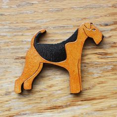 Airedale Terrier Brooch by RiggiDesign on Etsy, £12.50