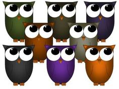 Cute, Fall Colors, Clip Art, Graphic Owls to add to your work!!! Owl graphics by Corinne Orozco! Hope you enjoy!!! Personal Use: These graphics can be used in your personal documents or lessons. They are to be used by the individual who downloaded the graphics package.