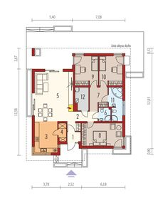 DOM.PL™ - Projekt domu AC Bob CE - DOM AE9-17 - gotowy koszt budowy Bungalow House Design, Small House Design, Simple House Plans, House Floor Plans, Bunk Bed Rooms, Summer House Garden, Best Tiny House, Small Modern Home, Weekend House