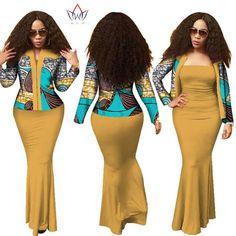 image African Shop, African Fashion Ankara, African Print Fashion, African Attire, African Wear, African Dress, Church Fashion, Yellow Blazer, Smart Dress
