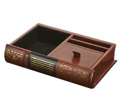 Bombay & Co, Inc. :: HOME DÉCOR :: Office Accessories :: Leather Charging Station