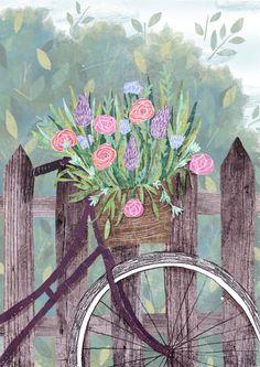 Flowerbike by Lu Green | Prints starting at $18