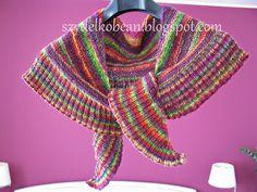 MÓJ ROBÓTKOWY ŚWIAT: Sweterek zawilcowy, szal z falbanką i mobius