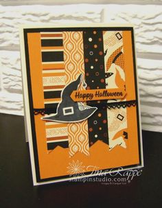 Stampin' Up! Spooky Cat stamp set, Spooky Night Designer Series Paper, Vintage Crochet Trim, Halloween, Stampin' Studio