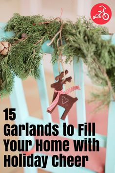 This holiday season, embrace your crafty side and deck the halls with DIY decor. These garlands are a great project to do with your kids. #garland #DIYgarland #christmasgarland