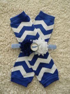SET leg warmers/headband LA Dodgers inspired baby by GracieDevine, $16.00 www.graciedevine.etsy.com